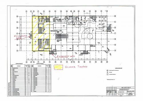 Первоначальный план зонирования трёх-зального кинотеатра. г. Югорск