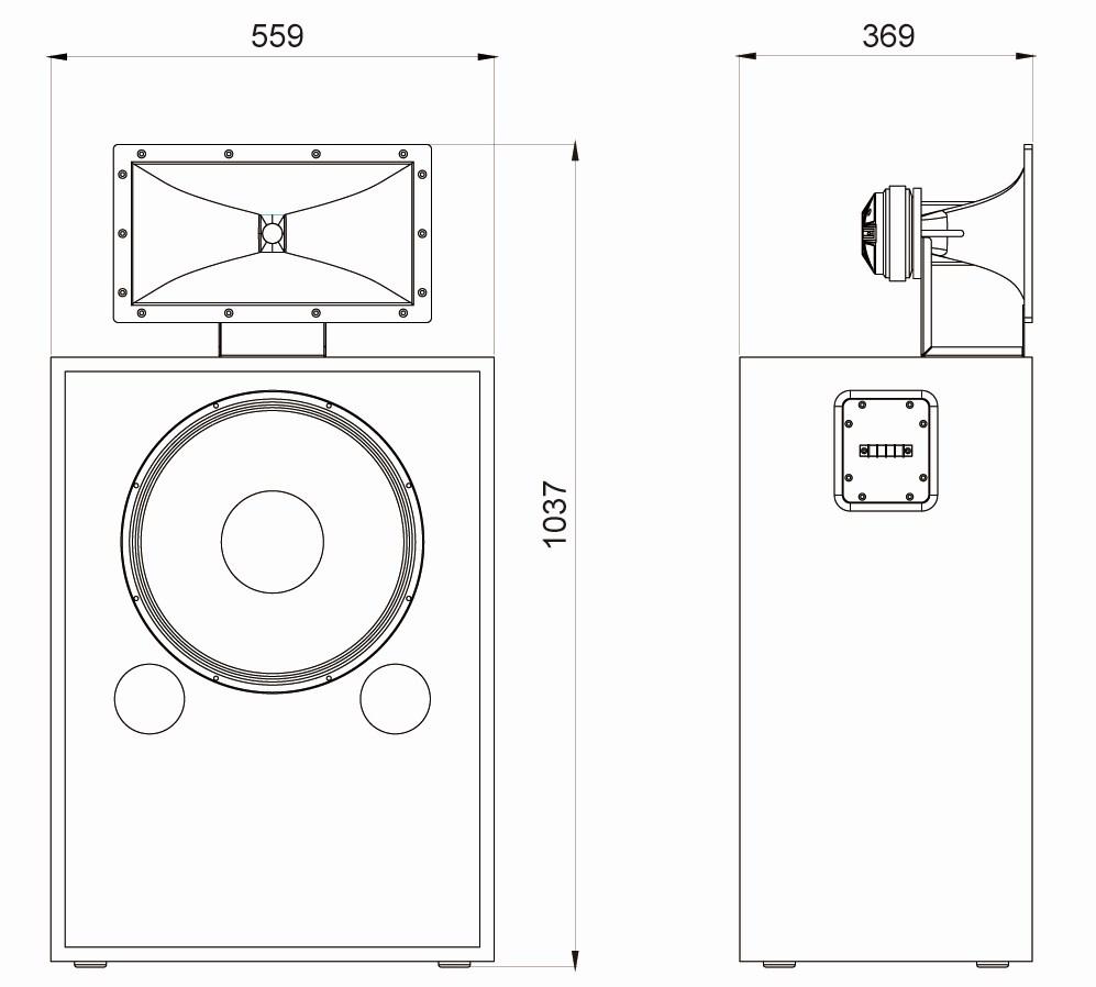 Luxury Cinema Main Speaker Cabinet — FC215H Supreme series