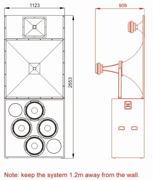 Luxury Cinema Main Speaker Cabinet — FC515T Supreme Series