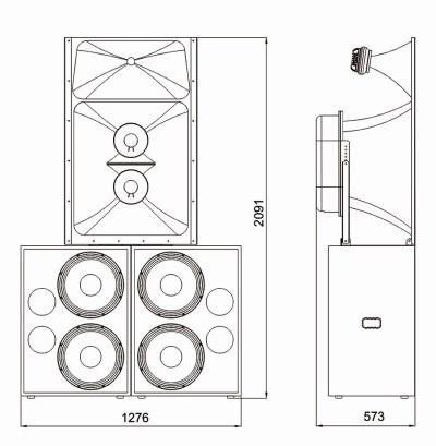 Luxury Cinema Main Speaker Cabinet — FC615T Supreme Series