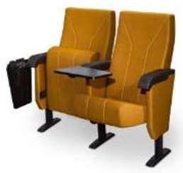 НИМБУС / ДЛ-2000 (спинка в ткани, дерев. подлокотник со стол. пюпитр, убир-ся внутрь стойки)